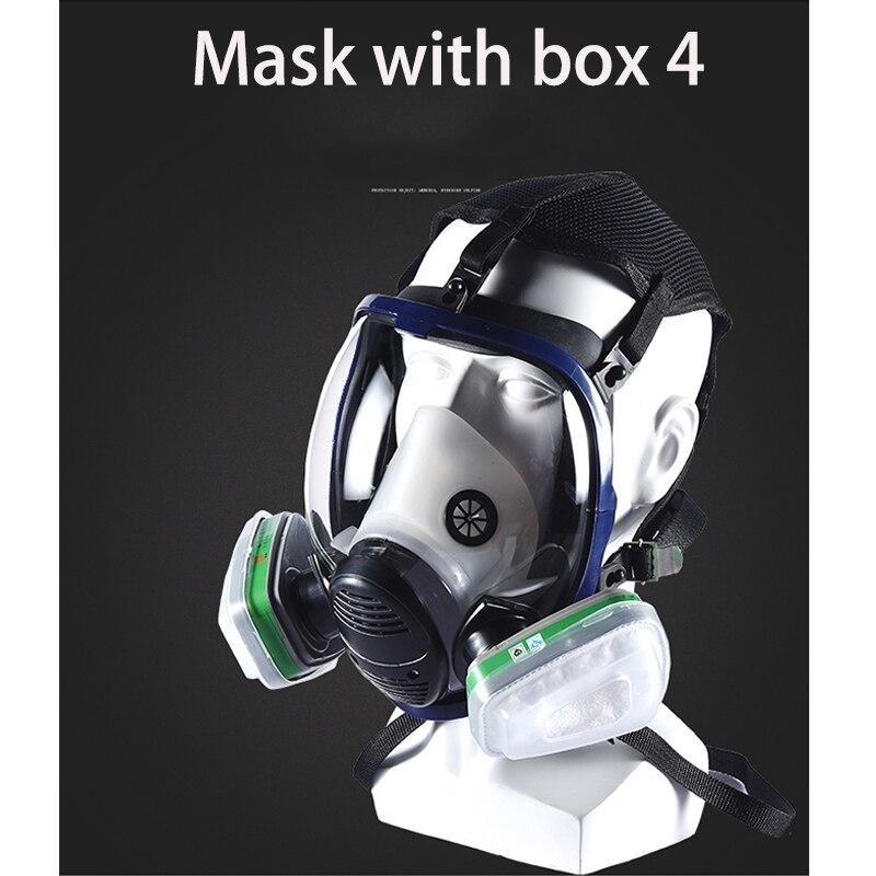 Masque chimique masque à gaz acide poussière respirateur peinture Pesticide Spray Silicone filtre laboratoire masque à gaz
