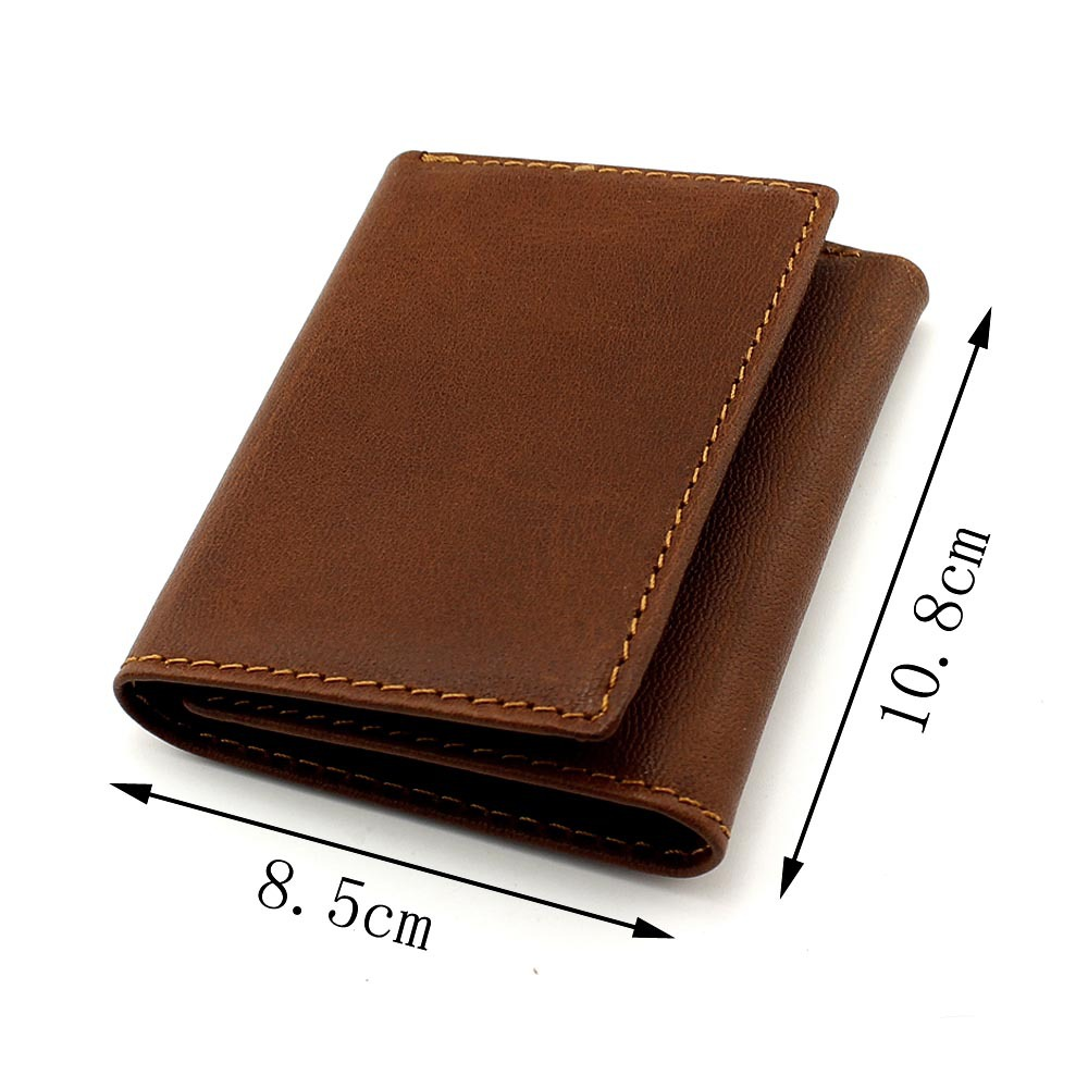 2017 Top Quality New Arrival Genuine Leather Wallet  3 folded Men Wallets Dollar Price Vintage Male Purse Card Holded ms brand men wallets dollar price purse genuine leather wallet card holder designer vintage wallet high quality tw1602 3