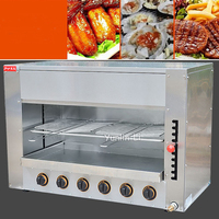 Steel Infrared Vertical Oven Free Standing Roasters Surface Luxury Gas Oven With Four Head Salamander FY