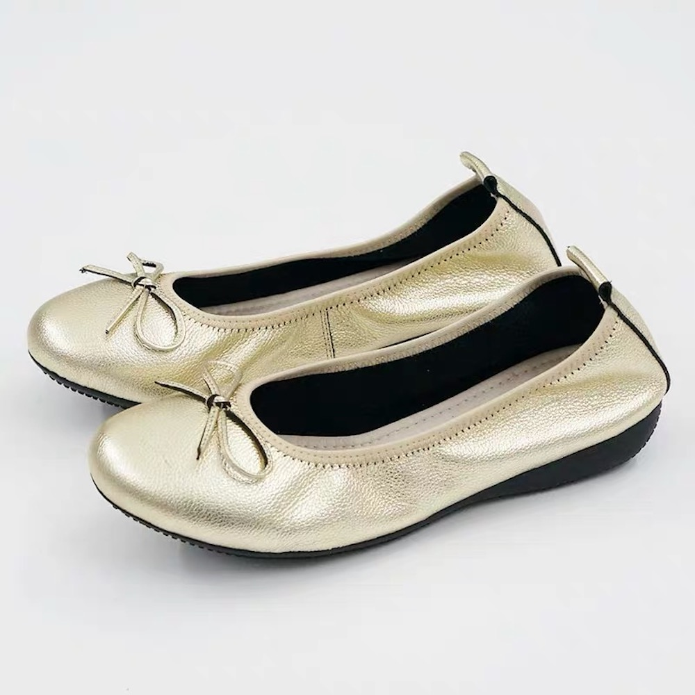 Women s Shoes Genuine Leather Slip On Butterfly knot Ladies Flats Hot Sell Comfort Spring Fashion