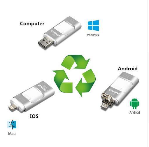 Nuevo i-flash pen driver hd u-disco de datos del relámpago para el iphone/ipad/ipod, micro usb interfaz de flash drive para pc/mac 128/256/512/64 gb