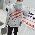 Spring Autumn Hoodies Sweatshirt Men 2017 Fashion Printing Gold Scratches Loose Pullover Hoodies Men Hip Hop Plus Size M-5XL
