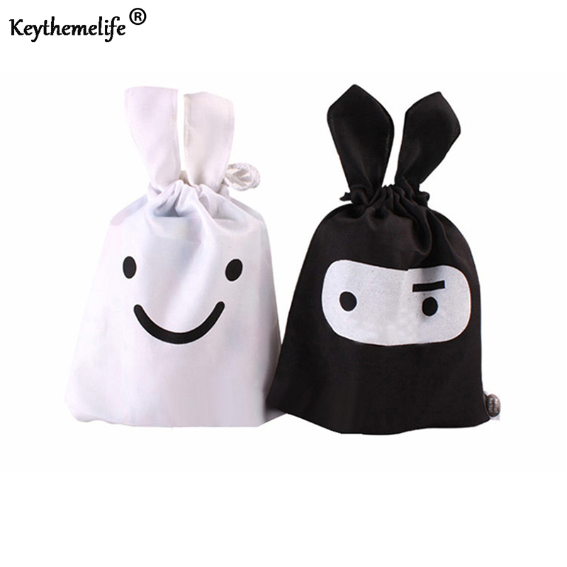 Keythemelife 1pcs Cartoon Rabbit Sorting bags for Travel Laundry Lingerie Pouch Storage Bags Cosmetic Underwear Organizer D1