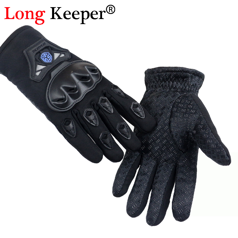 Long Keeper Men Outdoor Motorcycle Riding Gloves Tactical Gloves Military luvas Winter Full Finger Breathable eldiven G272