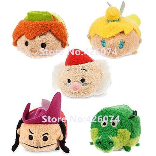 Tsum Peter Pan Captain Hook Tinker Bell Tick Tock Mr Smee Plush Toys Kids