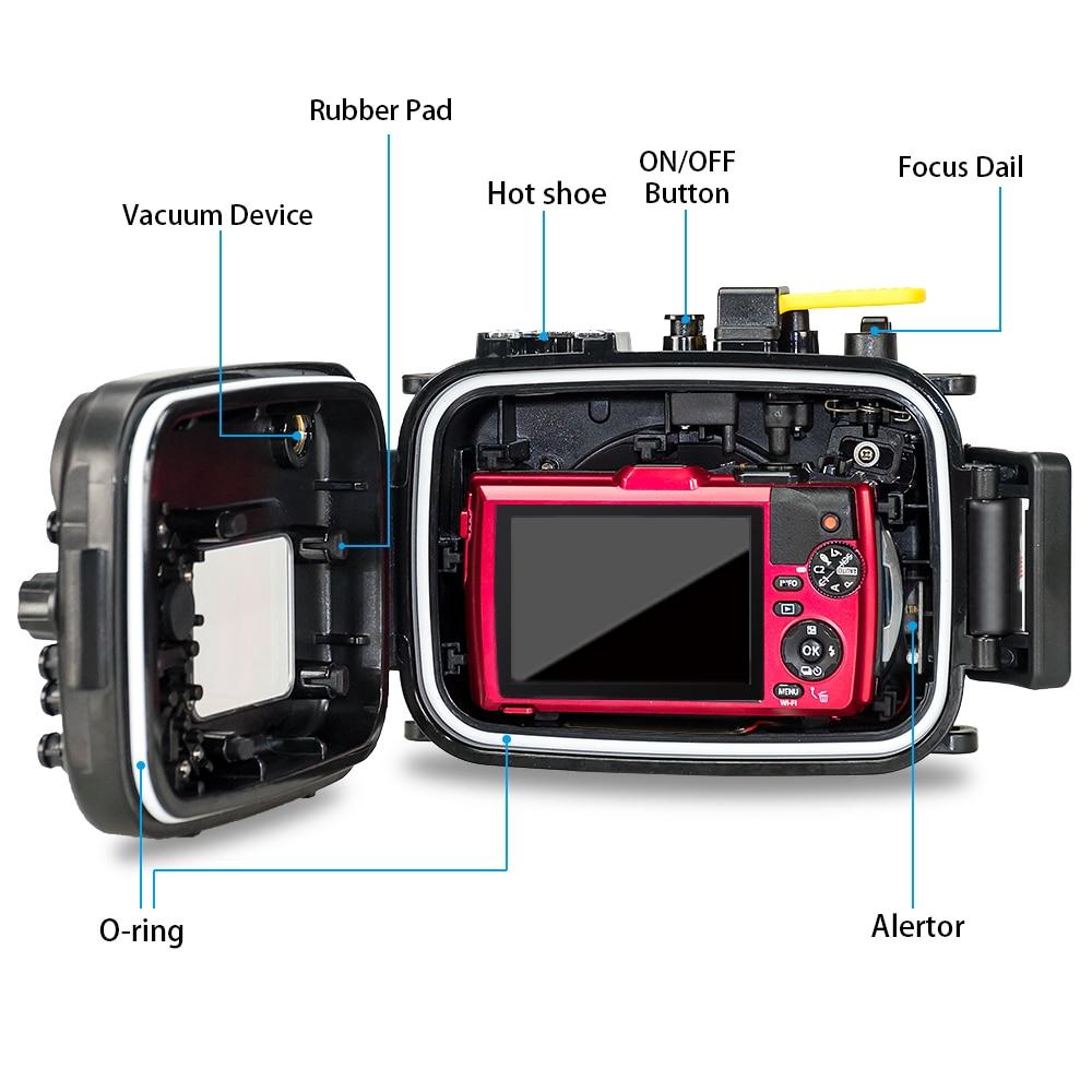 For Olympus TG4 Camera Underwater Housing Case Waterproof Diving Bag Shooting PC Equipment water resistance box (7)