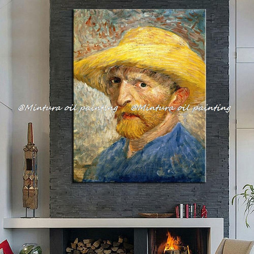 Ручная роспись Винсента Ван Гога автопортреты Репродукция картина масляными красками на холсте стены искусство картина для гостиной домашний декор