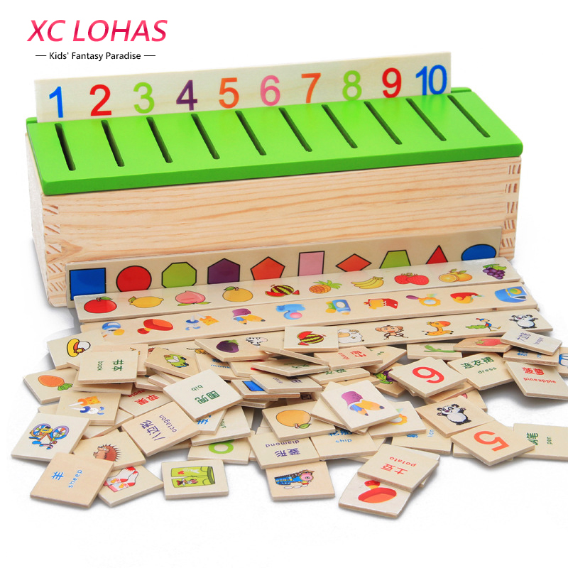 Toys For Preschoolers And Kindergarteners 3 5 : Montessori educational wooden game recognition toy baby