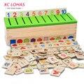 Montessori de Juguetes Educativos De Madera Juego Juguete Del Bebé Para Niños Aprendizaje Temprano Reconocimiento Clasificación Caja de Juguetes para Niños Juguetes de la Matemáticas