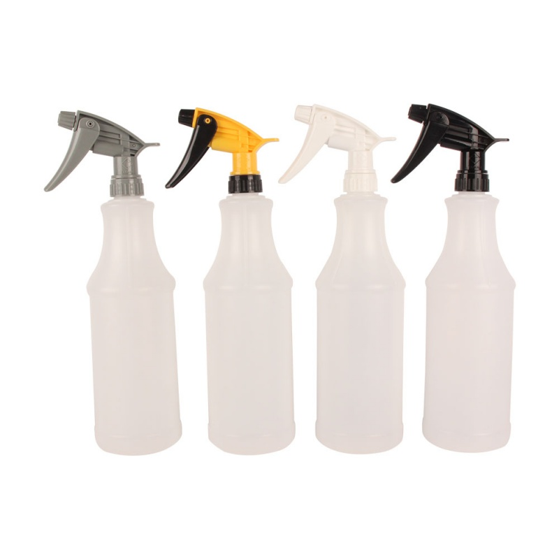 Professional 1000ML Ultra-fine Water Mist Cylindrical Spray Bottle HDPE Chemical Resistant Sprayer For QD Liquid Auto Detail