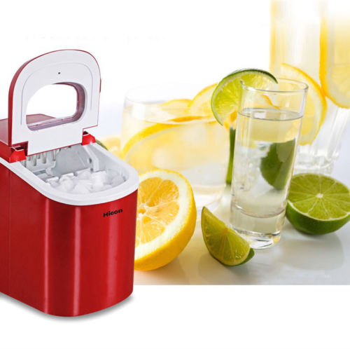 220V Stainless Commercial Ice Cube Maker Portable Ice Machine Restaurant *4Color