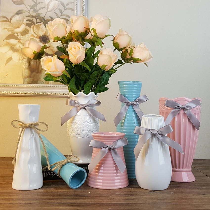 Sibaolu ceramic vase modern fashion ceramic flower vase home decoration tabletop flower vase - Great decorative flower vase designs ...