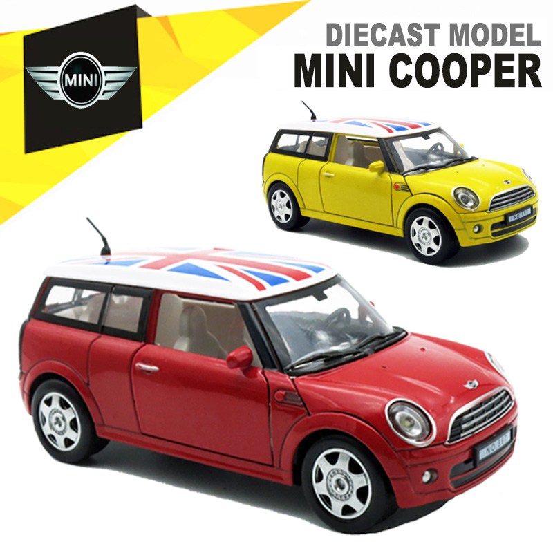 1 32 Cast Mini Cooper Model Kids Present For Children Metal Cars Toys With Pull Back Function Music Light Openable Door In Casts Toy Vehicles From