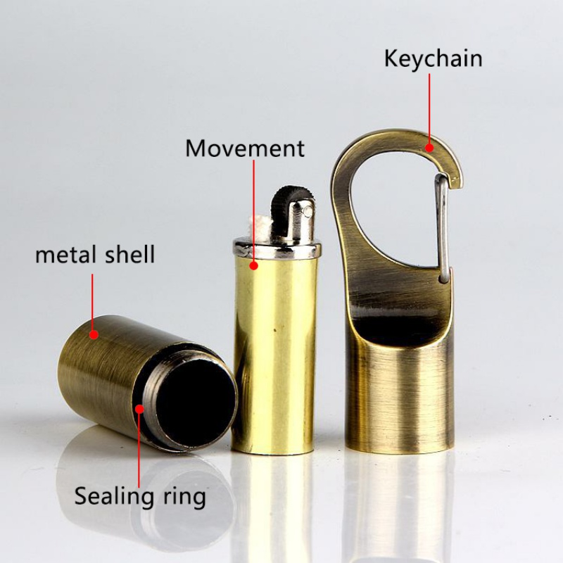 Image 5 - Emergency Mini Fire Starter Flint Match Lighter Metal Outdoor Camping Hiking Instant Survival Tool Useful Safety Key hang buckle-in Safety & Survival from Sports & Entertainment