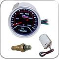 "2 ""52 MM Universal Medidor de Temperatura Del Aceite Del Coche 40-150 C Meter Auto Blanco LED"