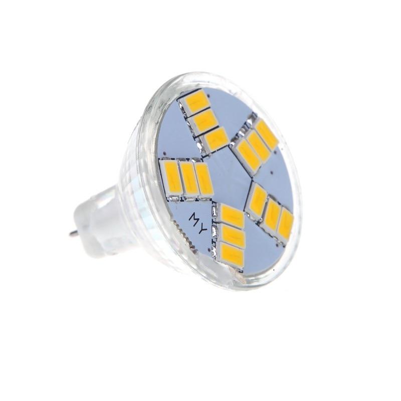 5X I6W4 7W MR11 GU4 600LM LED Birne Lampe 15 5630 SMD Licht Weisslicht