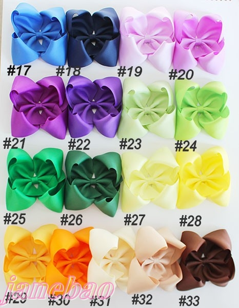 free shipping 2017 Newests 120pcs 5 5 6 ABC hair bows Boutique hair bows solid big