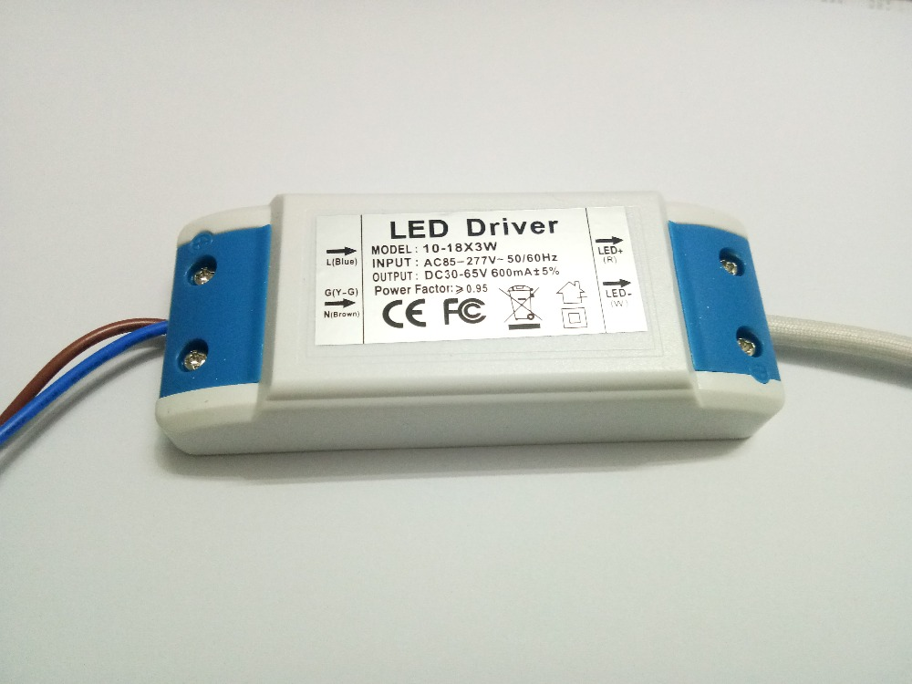 Hot Sale 1PCs (10-18) x 3W Led Transformer Power Supply Input 85-265V Output 30-65V 600MA High Power LED Driver For LED Light power supply module driver for led ac 85 265v page 4 page 5