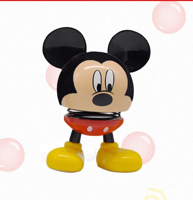 Disney Mickey e Minnie Mouse Balançando Boneca de Brinquedo Criativo Trinket Caixa Decoração Boneca Boneca para Carro Veículo de Alta Qualidade
