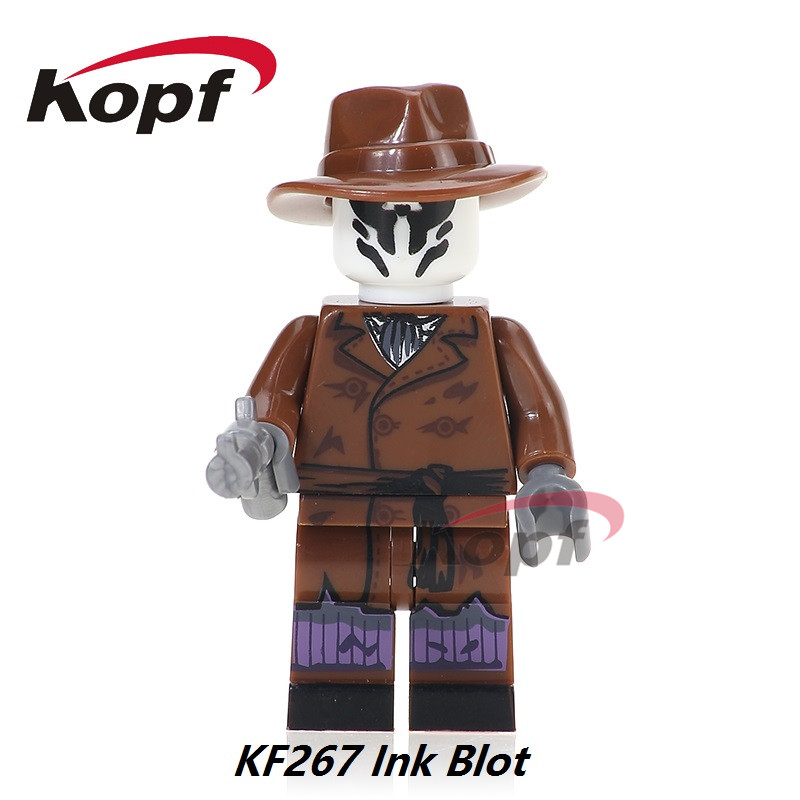 Single Sale Super Heroes The Antiheroes Ink Blot Chemistry Magic Teacher Deadpool Building Blocks Bricks Toys for children KF267 building blocks super heroes back to the future doc brown and marty mcfly with skateboard wolverine toys for children gift kf197