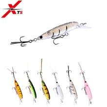 купить XTS Fishing Lure 45mm 3g Wobblers Artificial Hard Pencil Crankbait 6 Colors 12# Hooks 0.2-0.4m Swim Backwards Jerkbait 3519 по цене 304.81 рублей
