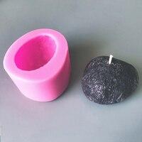 Ручной работы diy каменная силиконовая форма льда воск булыжник свеча модель ароматизированный соевый воск для свечей плесень