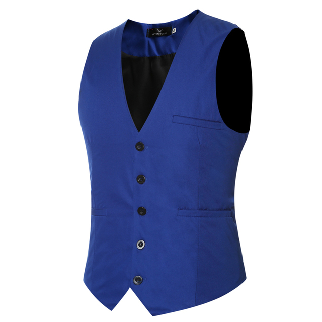 Brand Clothing Waistcoat Vest Men Slim Male Sleeveless Suit Jacket Tuxedo Single Breasted V-neck Dress Formal Wedding Vest Z05