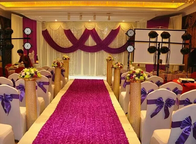 10ft20ft wedding stage decoration wedding backdrop with beatiful 10ft20ft wedding stage decoration wedding backdrop with beatiful swag wedding drape and curtain wedding supplies grape purple in party backdrops from home junglespirit Choice Image
