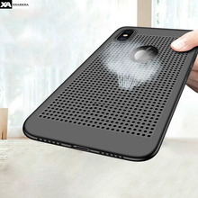 Ultra thin Hollow Heat Dissipation Phone Cases For iPhone 7 8 Plus Luxury Hard PC Back Cover XR XS MAX Case Coque