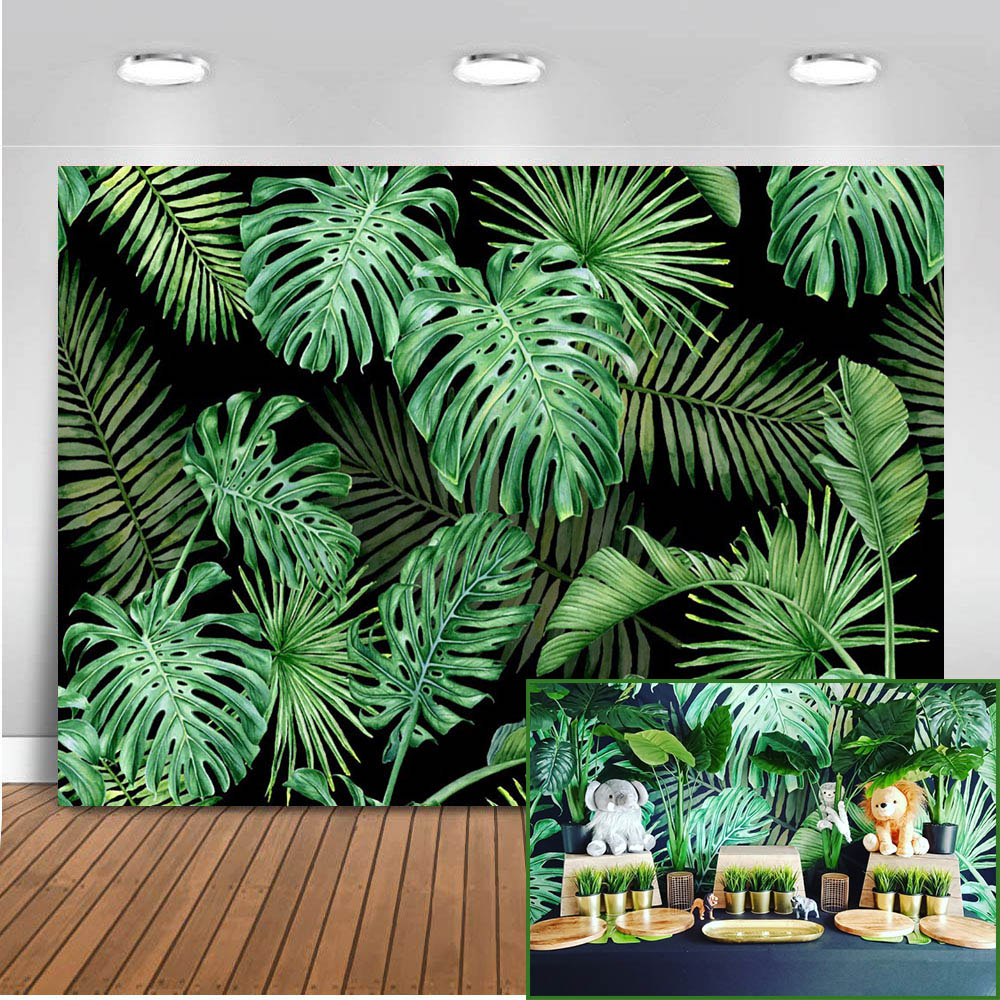 Mehofoto Jungle Forest Photography Backdrops Spring Photo Booth Background Studio Safari Party Backdrop Vinyl Cloth Seamless 812