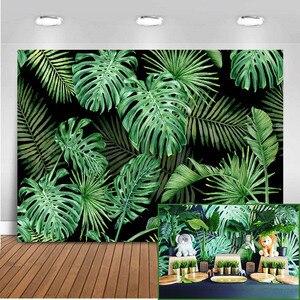 Image 1 - Mehofoto tło do zdjęć z motywem dżungli wiosna tło do budki fotograficznej Studio impreza w stylu Safari tło tkanina winylowa bez szwu 812