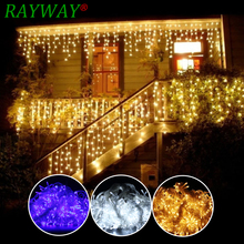 6M x 3M 600 LED Home Outdoor Holiday Christmas Decorative Wedding Xmas String Fairy Lights Garlands