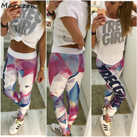 Maoxzon Women S Print Sexy Fitness Slim Leggings For Female 2017 Summer New Casual Workout Active