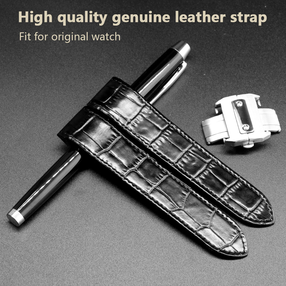 Watchband Genuine Leather 20mm 23mm Watchband Watch Strap Accessories Belt for Watch Santos 100 Man Woman W20106X8+Tools b8 custom order italian leather watch strap 12 23mm blue watchband with free shipping