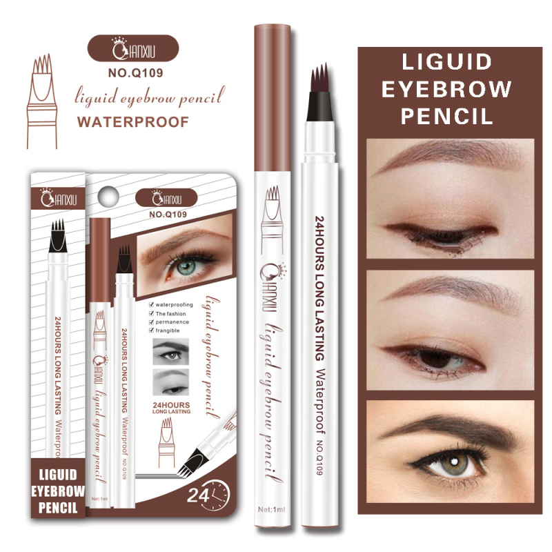 Eyebrow Enhancers Rational Hot Sale Eyebrow Tattoo Pen Waterproof Eye Makeup 3 Colors Easy Use Eyebrow Pen Deep Color Pencil Eyebrow Tslm1 Clients First