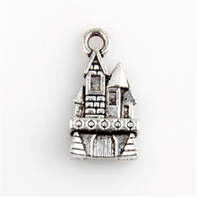 20pcs metal charm castle Tibetan silver jewelry pendant making