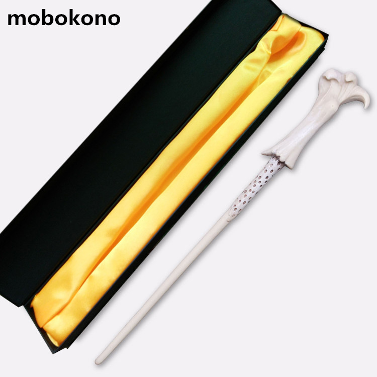 mobokono Top Quality Voldemort Magic Wand With Gift Box Cosplay Game Prop Collection Harry Potter Series Toy Stick high quality best price harry potter magic wand kids cosplay stage magic tricks sticks children toys harry potter magical wand