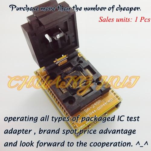 FPQ-44-0.8-19 QFP44 Adapter QFP44-DIP40 Programmer Adapter IC Test SocketIC Socket 0.8mm Size-10X10mm