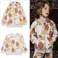 Ins * más nuevo 2017 muchachas de los bebés 100% de rizo de algodón sudor camisas con capucha niños del otoño del resorte superior llenos de león impreso moda 1-6Y