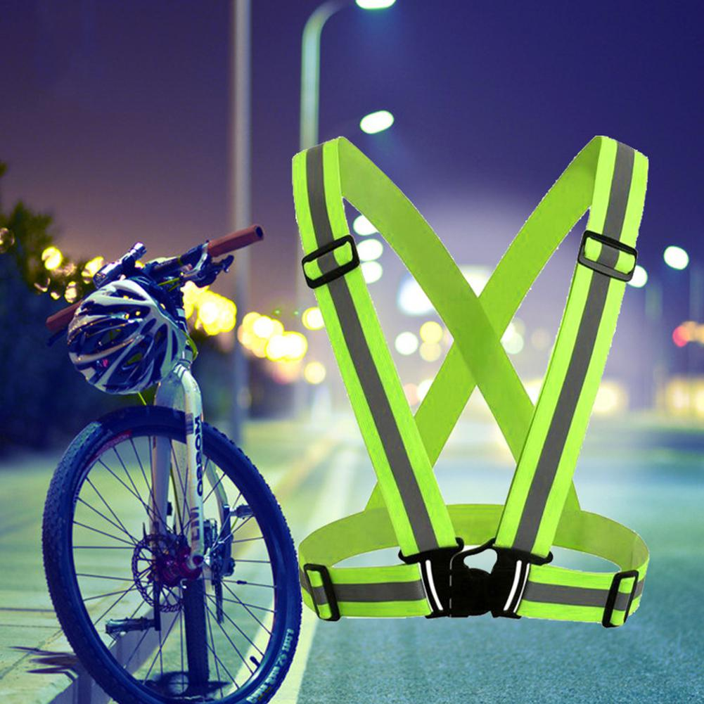 Bicycle Light Bicycle Accessories Sporting Zk20 Dropshipping Unisex Outdoor Cycling Safety Vest Bike Ribbon Bicycle Light Reflecting Elastic Harness For Night Activities