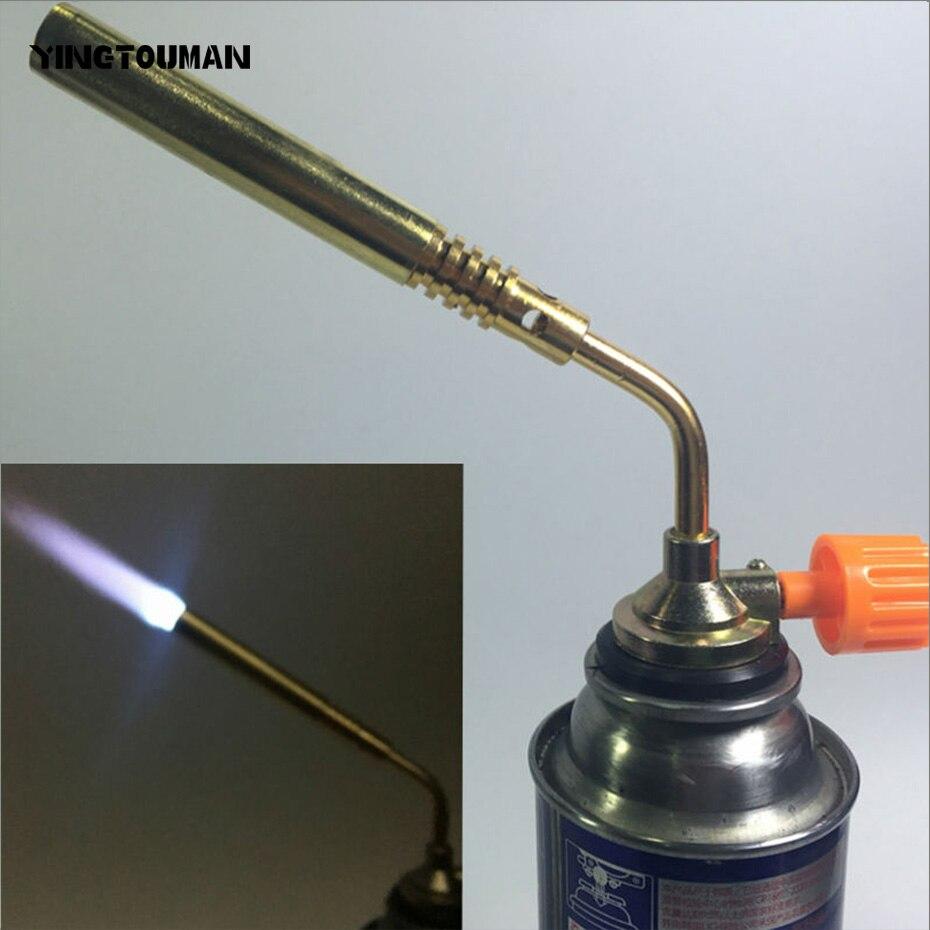 YINGTOUMAN Gas Torch Propane Burner Blower Welding Outdoor Camping BBQ Brazing Lighter Flame Gun Removable Blow Lamp Torch zeus watch