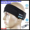 Unisex Wireless Bluetooth V3.0 Knit Headset Stereo Headphone Hand-free Music Magic Sport Smart Headbands Cap Mp3 Speaker Mic