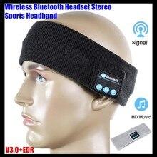 Unisex Wireless Bluetooth V3.0 Knit Headset Stereo Headphone Hand-free Music Magic Sport Smart Headbands Cap Mp3 Speaker Mic