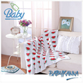 Alta calidad 100% algodón vivid sandía patrón bebé recién nacido manta manta de bebé de punto de ganchillo 32 algodón peinado size1/size2