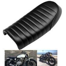 3 colores Retro asiento personalizado para motocicleta tipo Cafe asiento de competición Vintage sillín con Gibas asiento encaja para Yamaha Kawasaki Honda Scrambler
