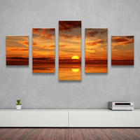 5PCS Home Decor Canvas Wall Art Decor Painting SUNDOWN OCEANS Wall Picture Canvas Art Print From