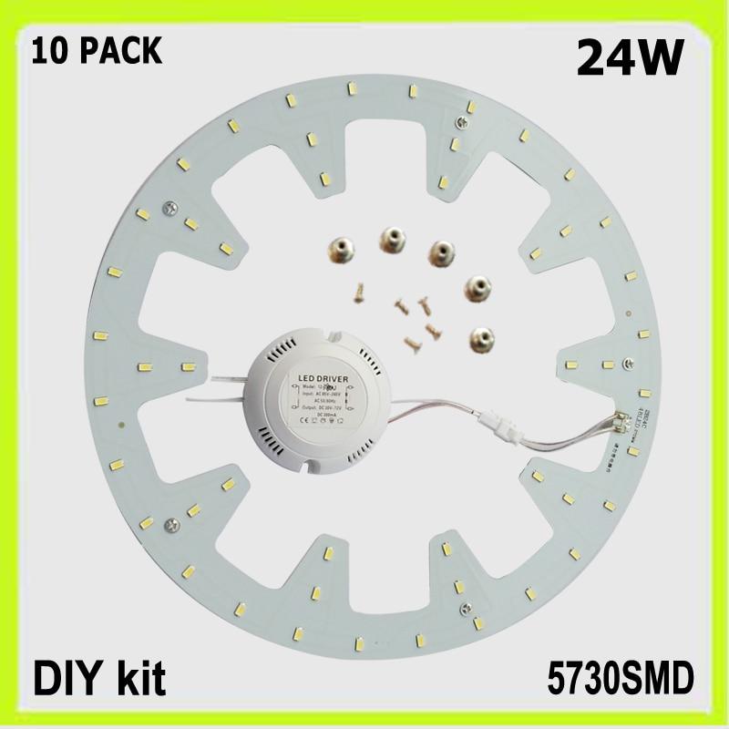 DHL pristatymas 10 PACK apvalių 24W LED lubų lempų LED PCB DIA - Vidinis apšvietimas