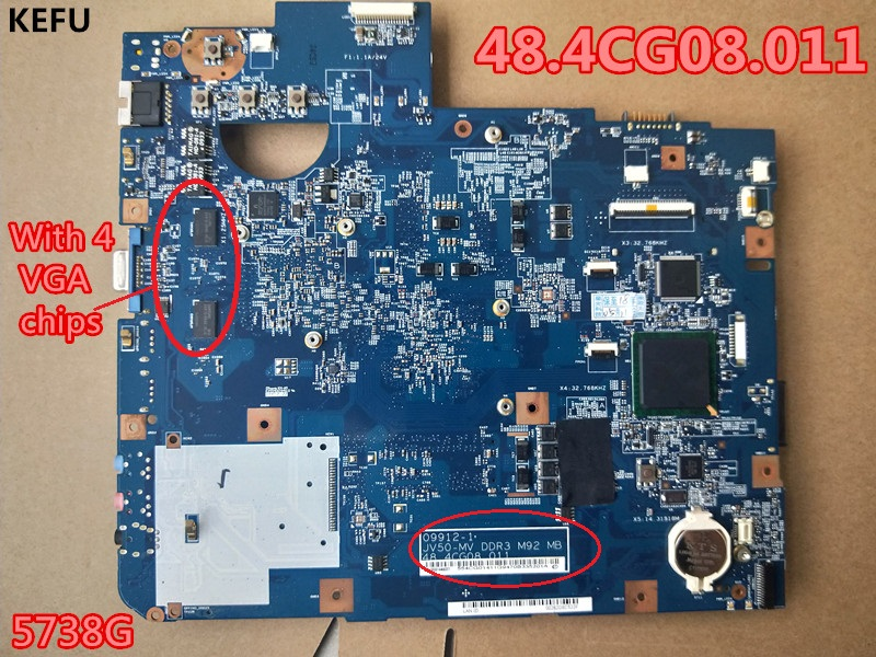 KEFU Laptop Motherboard For Acer 5738 5738G 48 4CG08 011 Mother board 100 Fully tested