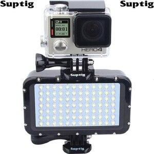 SLR камера Подводный Свет Дайвинг водонепроницаемый светодиодный свет для GoPro Hero 876 Session 4 5 Xiaomi Yi 4K Mijia sjcam SJ6/8/9 EKEN H9R