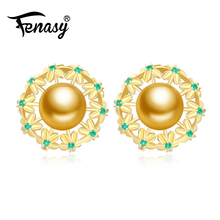 FENASY Pearl Jewelry,bijoux femme pearl earrings,925 Sterling Silver stud earrings,earrings for women,vintage earrings 2017